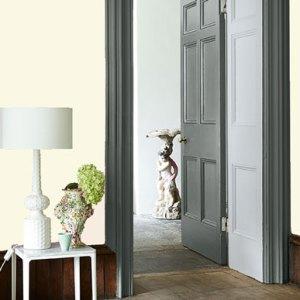 Little Greene Wandfarbe White Lead 74 Wohnung Wohnungsbeispiel Wand Farbe Gelb Weiß