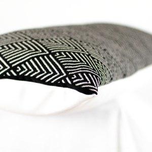Designers Guild Outdoor-Kissen Balian Noir Schwarz-Weiss