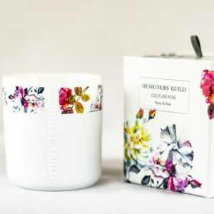 Designers Guild Duftkerze Couture Rosen- & Pfingstrosenblüten candle