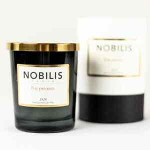 Nobilis Duftkerze Bois Precieux Vanille & Patchouli Kerze Duft Candle Schwarz Gold