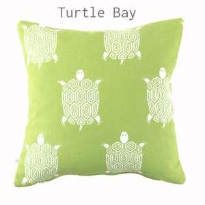 HOATÉ Outdoor-Kissen Turtle Bay Kiwi Grün Outdoor Natur Quadrat Dekokissen Grün