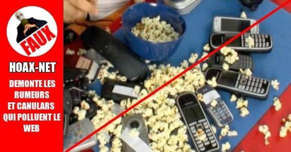 Fabriquer du pop corn avec des cellulaires.