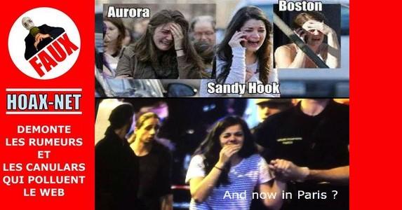 Non, elle ne pleure pas sur tous les attentats : Aurora – Boston – Sandy Hook et Paris !