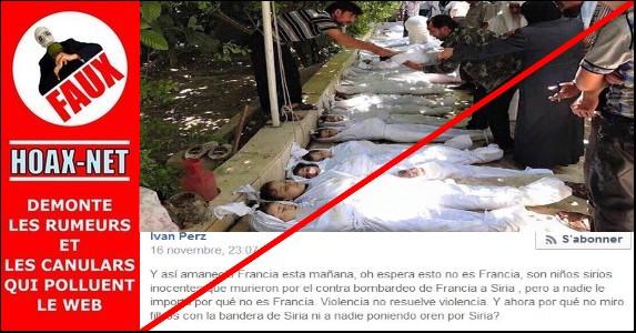 Cette photo n'est pas le résultat d'un bombardement français en Syrie !