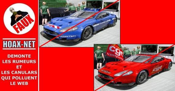 NON, il  n'y a pas d'Aston Martin à la Gendarmerie Nationale du Var , ni a la CGT !