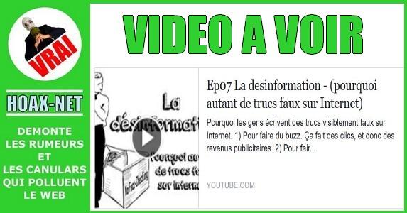 A VOIR : La désinformation – (pourquoi autant de trucs faux sur Internet)