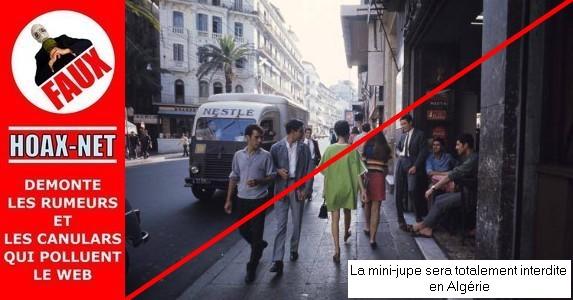 NON, l'Algérie ne va pas interdire les mini-jupes !