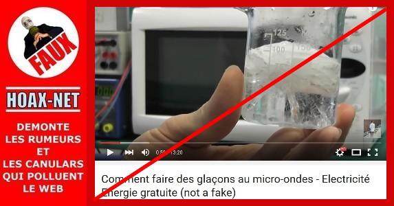 NON, il est impossible de faire des glaçons au micro-ondes !