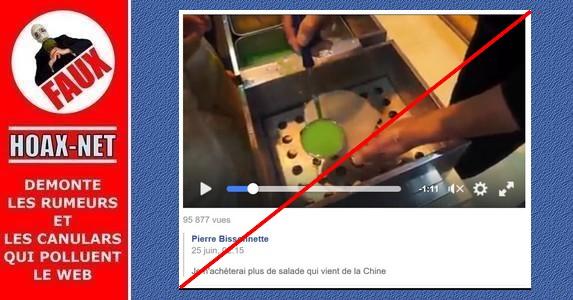 NON, de la salade synthétique chinoise n'est pas vendue sur les marchés !!