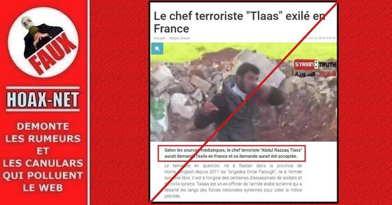NON, cet homme n'est pas un chef terroriste exilé en France