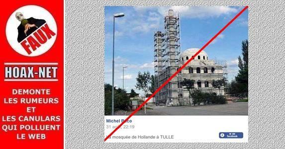 Arrêtez de partager de fausses informations sur le projet de la mosquée à Tulle.