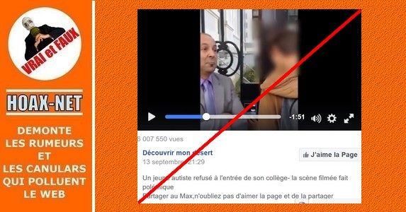 Un jeune autiste refusé à l'entrée de son lycée à Lyon en 2014 !