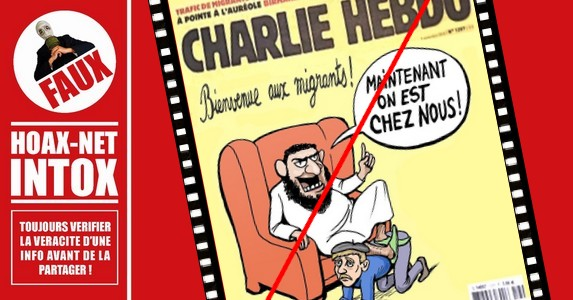 Fausse manchette de Charlie Hebdo.