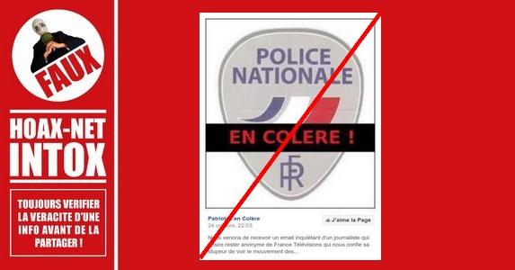 Non, il n'y a pas eu une censure imposée aux médias concernant le mouvement des policiers