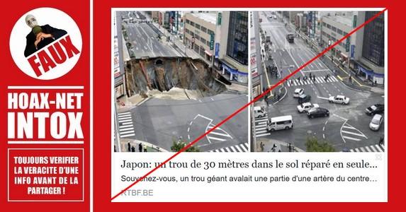 NON, un immense trou dans la chaussée n'a pas été réparé en seulement 48 heures !