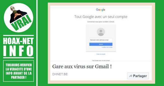 Gare aux virus sur Gmail !