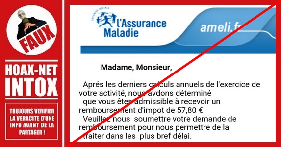 Attention aux messages frauduleux usurpant le nom de l'Assurance Maladie !