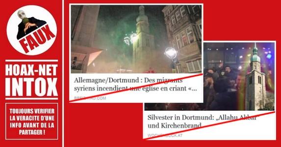 Non, des migrants n'ont pas incendié une église en Allemagne !