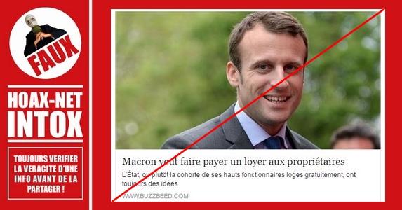 Non, Emmanuel Macron ne fera pas payer de «loyers fictifs» aux propriétaires