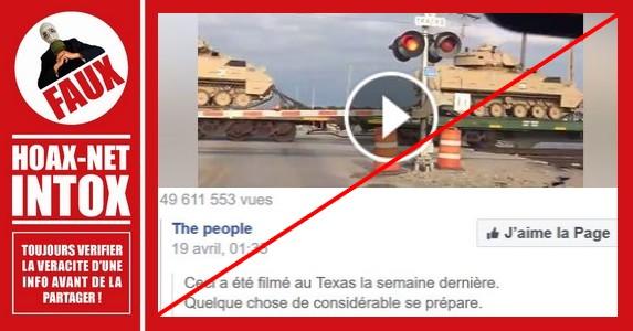 Non, cette vidéo ne montre pas la préparation de la 3ième guerre mondiale par D. TRUMP