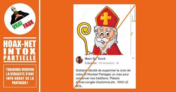 POLÉMIQUE – Solidaris a supprimé la croix de notre St Nicolas !