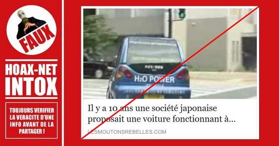 Non, il y a 10 ans, une voiture japonaise fonctionnant à l'eau n'a pas été inventée.