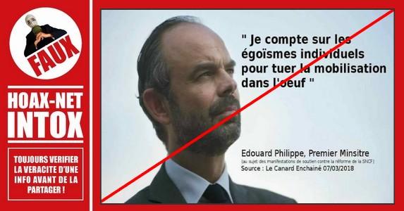 Non, cette citation n'est pas du Premier Ministre Français Édouard Philippe.