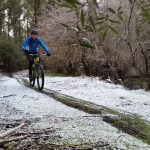 Winter bike rides in Tasmania
