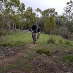 Cross-country MTB trails outside Hobart, Tasmania
