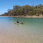 River crossings, bikes and kayaks - Hobart MTB Tours at your service