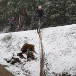 Snow trails and winter biking in Tasmania