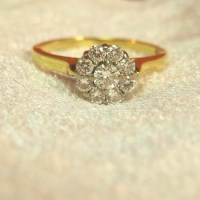 Antique ~ Vintage Diamond Daisy Ring ~ Vintage Diamond ...