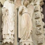 Smilende engel katedralen i Reims