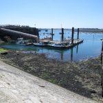 Saint Malo med lavt tidevann