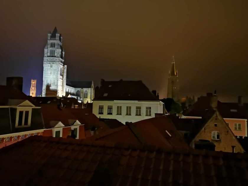 Utsikt fra hotellrommet – Brugge