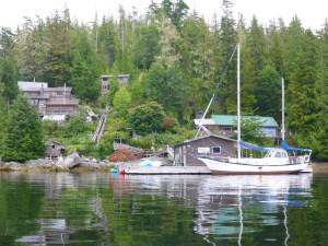 Approaching Salmon Coast Field Station.