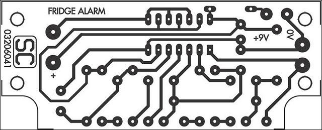 Fridge-Door Open Alarm Circuit Project Circuit Diagram And