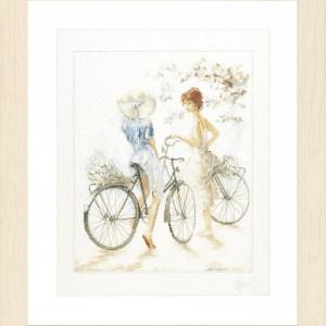 Lanarte Borduurpakket - Meisjes op de fiets