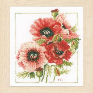Lanarte Borduurpakket - Boeket van anemonen