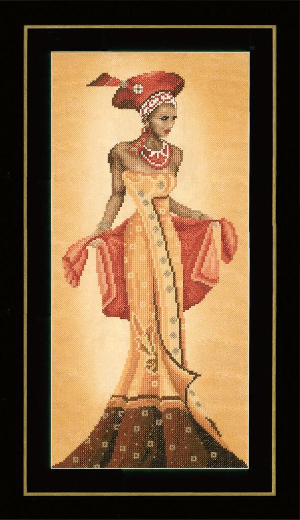 Lanarte Borduurpakket - Afrikaanse mode 1