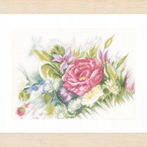 Lanarte Borduurpakket - Aquarelbloemen