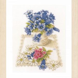 Lanarte Borduurpakket - Blauwe klokjes