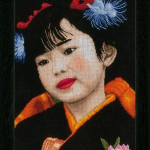 Lanarte Borduurpakket - Japans meisje