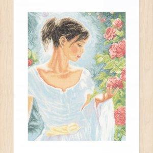 Lanarte Borduurpakket - Rode Bloemen