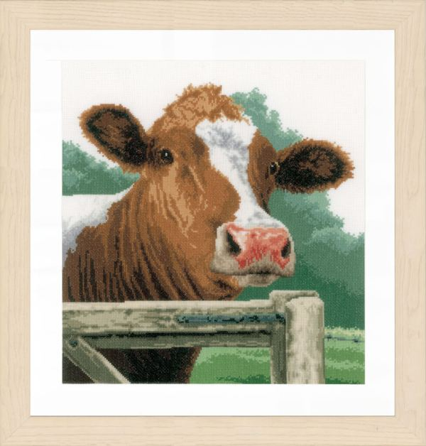 Lanarte Borduurpakket - Verwonderde koe