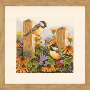 Lanarte Borduurpakket - Kwetterende vogels / roodborstjes