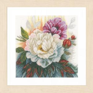 Lanarte Borduurpakket - Witte roos