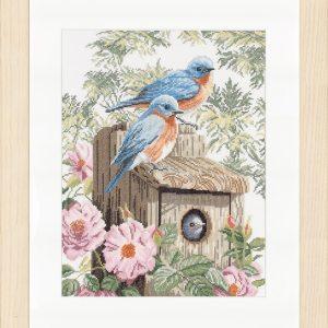 Lanarte Borduurpakket - Blauwe vogels
