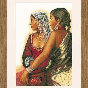 Lanarte Borduurpakket - Twee vrouwen