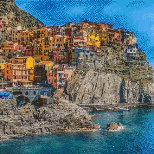MyHobby borduurpakket - Cinque Terre in Italië